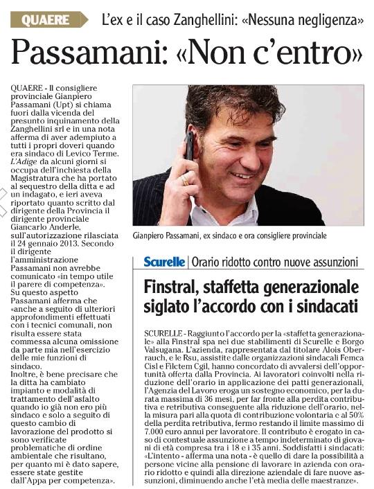 FONTE :Quotidiano ADIGE 12 agosto 2015