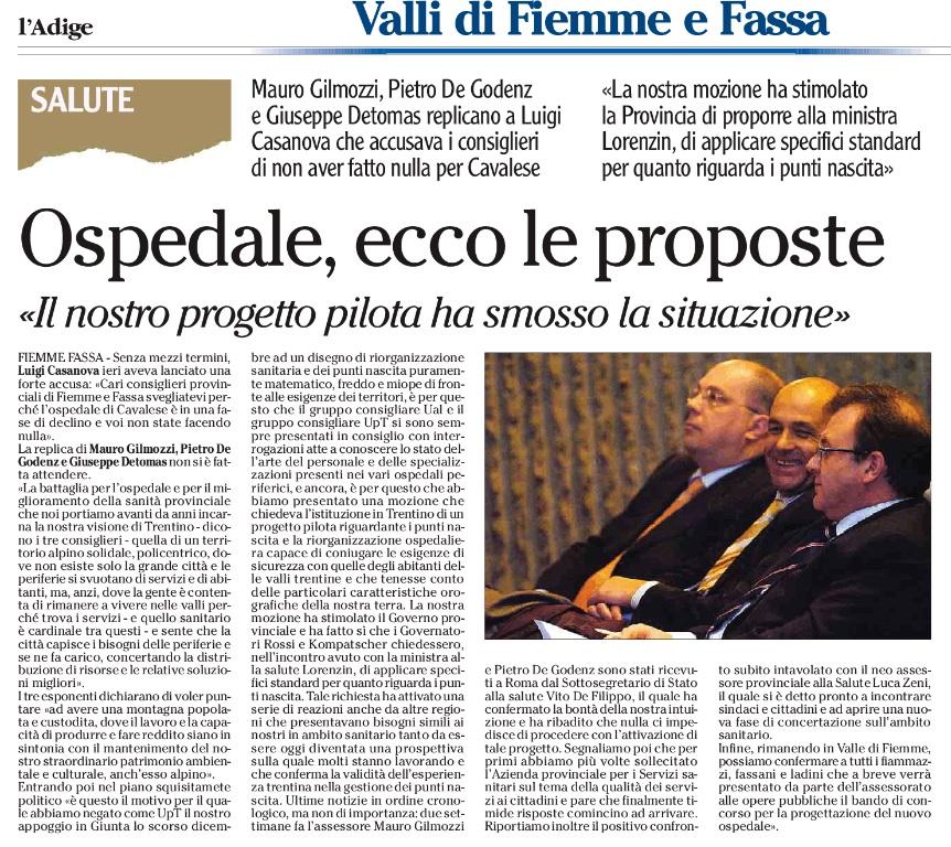 FONTE: Quotidiano ADIGE del 13 agosto 2015